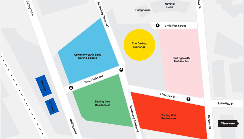 The Darling Square Masterplan Map