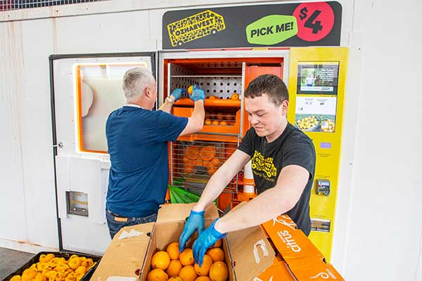 We joined forces with OzHarvest's innovation arm ForPurposeCo. to host one of Australia's first fresh orange juice vending machine with purpose.
